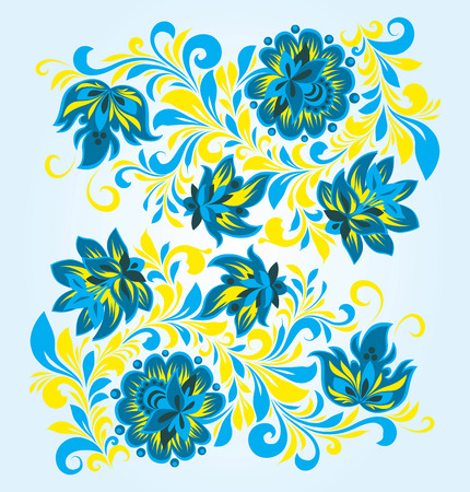 Vector ornament in folk floral style Stock Vector - 4127905