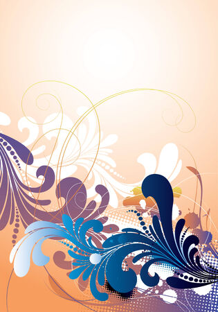 vector ornament In flower style Stock Vector - 4130924