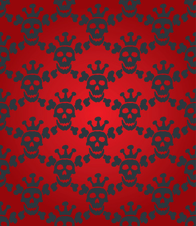 Seamless background from a skull ornament, Fashionable modern wallpaper or textile Stock Vector - 4127913