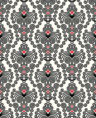 vector artwork: Seamless background from a floral ornament, Fashionable modern wallpaper or textile