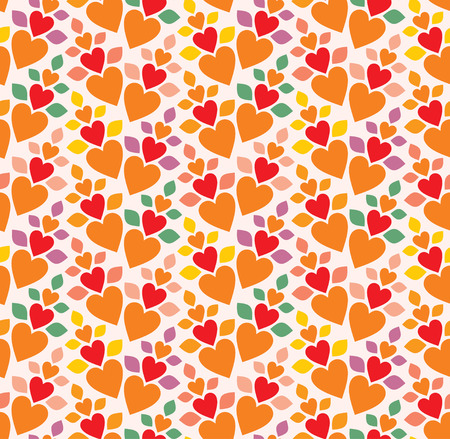 silhuette: Seamless background from a hearts ornament, Fashionable modern wallpaper or textile