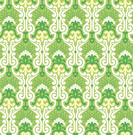 Seamless background from a floral ornament, Fashionable modern wallpaper or textile Stock Vector - 4511948