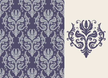 Seamless background from a floral ornament, Fashionable modern wallpaper or textile Stock Vector - 4511926