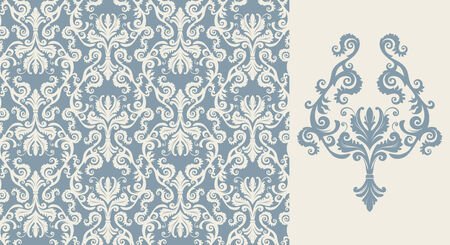 Seamless background from a floral ornament, Fashionable modern wallpaper or textile Stock Vector - 4511936