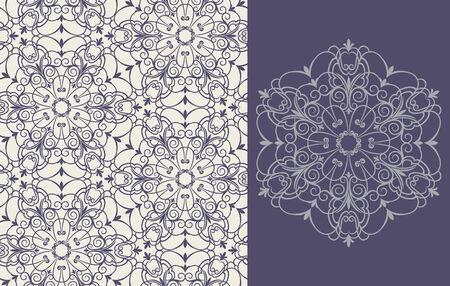 Seamless background from a floral ornament, Fashionable modern wallpaper or textile Stock Vector - 4511935