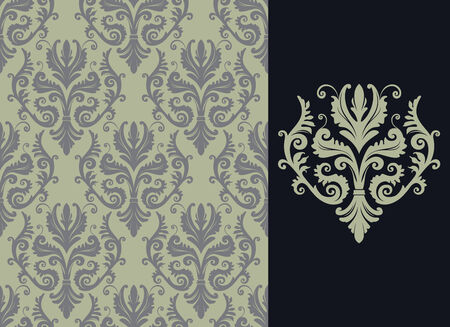 Seamless background from a floral ornament, Fashionable modern wallpaper or textile Stock Vector - 4538894