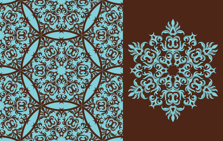Seamless background from a floral ornament, Fashionable modern wallpaper or textile Stock Vector - 4538908