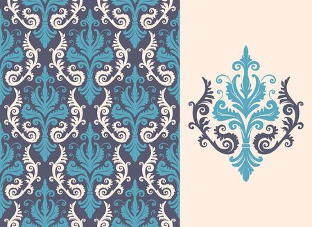 Seamless background from a floral ornament, Fashionable modern wallpaper or textile Stock Vector - 4578241