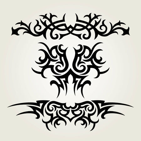 tribals: vector ornament In flower style Illustration