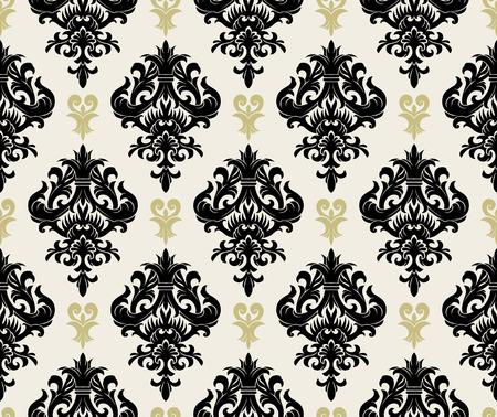 antikes papier: Seamless Background aus floral Ornament, modische moderne Wallpaper oder textile Illustration