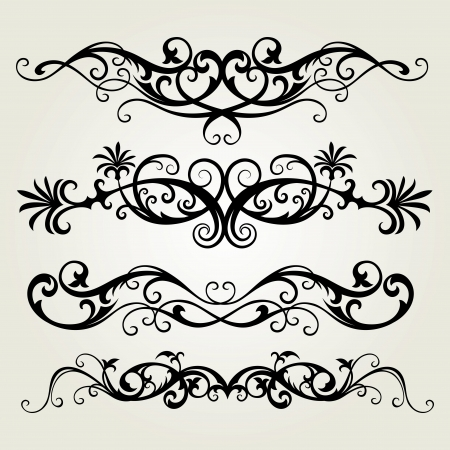 vector ornament In flower style Illustration