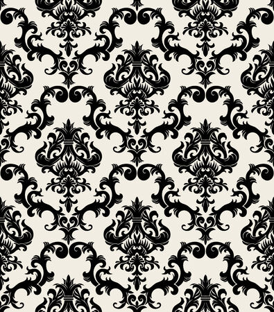 seamless damask: Seamless background from a floral ornament, Fashionable modern wallpaper or textile