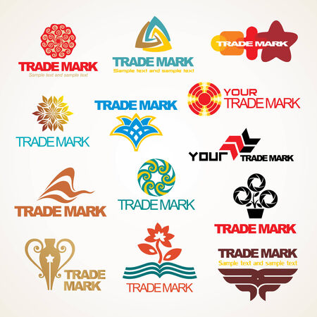 Set of vector trade marks for your company or a site