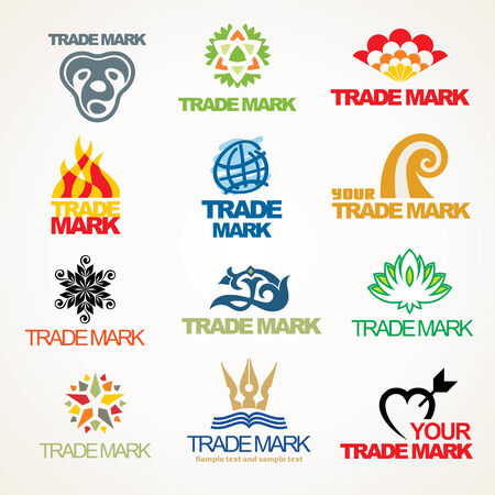 Set of vector trade marks for your company or a site Stock Vector - 4679236