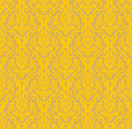 Seamless background from a floral ornament, Fashionable modern wallpaper or textile Stock Vector - 4926757