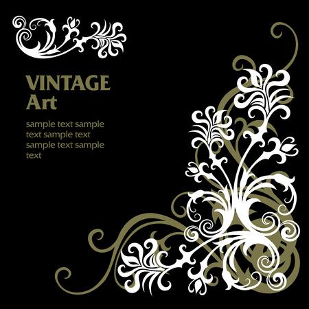 filigree swirl: vector ornament In flower style Illustration