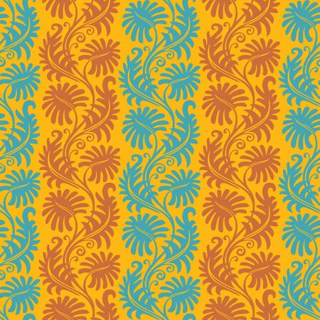 Seamless background from a floral ornament, Fashionable modern wallpaper or textile Stock Vector - 4931407