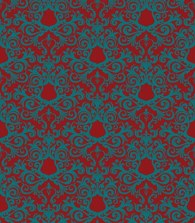 Seamless background from a floral ornament, Fashionable modern wallpaper or textile Stock Vector - 4951859