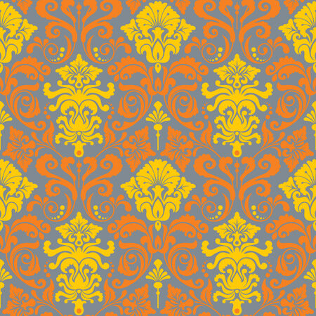 Seamless background from a floral ornament, Fashionable modern wallpaper or textile Stock Vector - 4951854