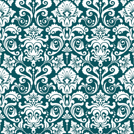 damask: Seamless background from a floral ornament, Fashionable modern wallpaper or textile