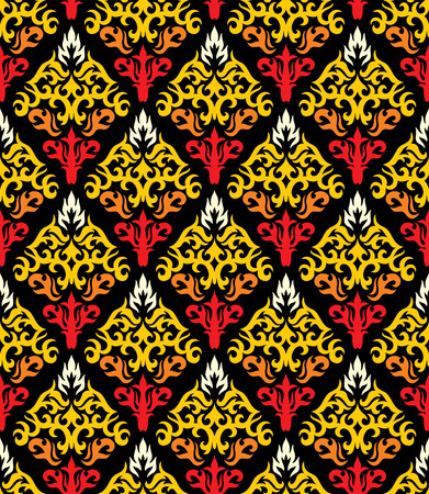 Seamless background from a floral ornament, Fashionable modern wallpaper or textile Stock Vector - 4965800