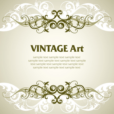 cartouche: vector ornament In flower style Illustration