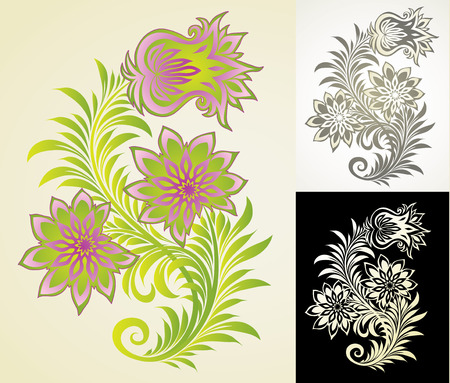 vector ornament In flower style Stock Vector - 4965832