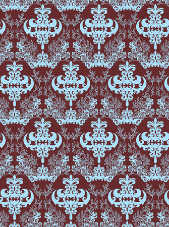 Seamless background from a floral ornament, Fashionable modern wallpaper or textile Stock Vector - 4965833