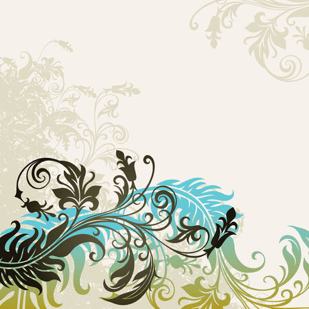 flore: vector ornament In flower style Illustration