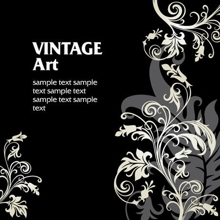 vectors abstract: En vector ornamento de flores estilo Vectores