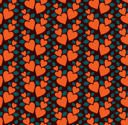 Seamless background from a hearts ornament, Fashionable modern wallpaper or textile Vector