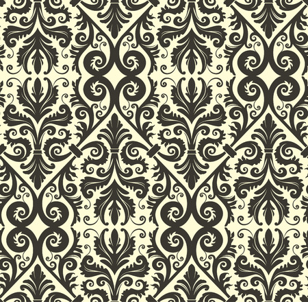 Seamless background from a floral ornament, Fashionable modern wallpaper or textile Stock Vector - 4972161