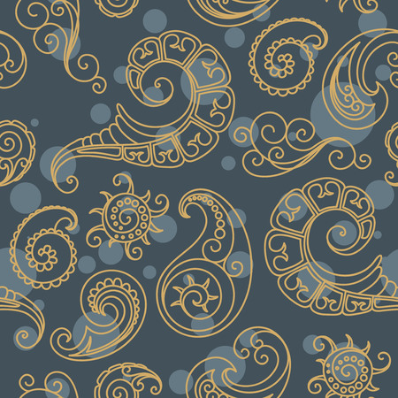 persia: Seamless background from a floral ornament, Fashionable modern wallpaper or textile