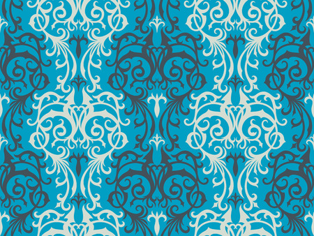 Seamless background from a floral ornament, Fashionable modern wallpaper or textile Stock Vector - 4972158