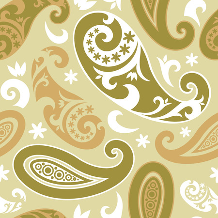 Seamless background from a floral ornament, Fashionable modern wallpaper or textile Stock Vector - 4972154