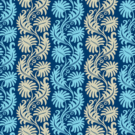 Seamless background from a floral ornament, Fashionable modern wallpaper or textile Stock Vector - 4985550