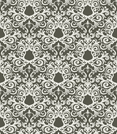 Seamless background from a floral ornament, Fashionable modern wallpaper or textile Stock Vector - 5031219