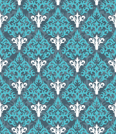 tileable: Seamless background from a floral ornament, Fashionable modern wallpaper or textile