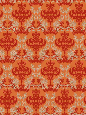 Seamless background from a floral ornament, Fashionable modern wallpaper or textile Stock Vector - 5031225