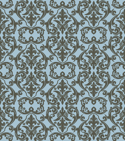 Seamless background from a floral ornament, Fashionable modern wallpaper or textile Stock Vector - 5031220