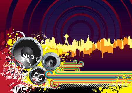 grooves: vector background for flyers and more