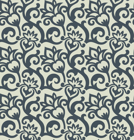 Seamless background from a floral ornament, Fashionable modern wallpaper or textile Stock Vector - 5220301