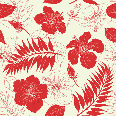 Seamless background from a floral ornament, Fashionable modern wallpaper or textile Stock Vector - 5220307