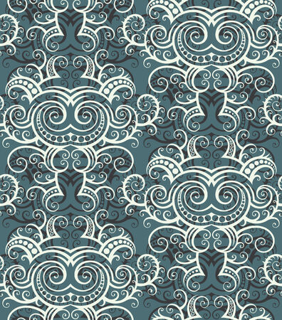 Seamless background from a floral ornament, Fashionable modern wallpaper or textile Stock Vector - 5581709