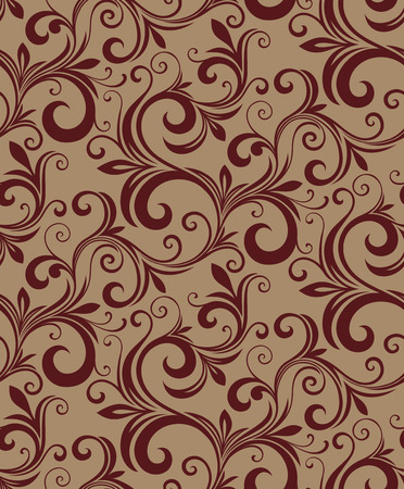 Seamless background from a floral ornament, Fashionable modern wallpaper or textile Stock Vector - 5581717