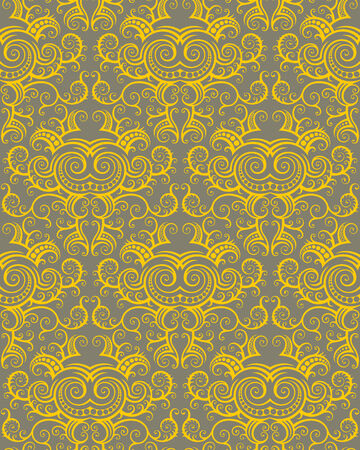 Seamless background from a floral ornament, Fashionable modern wallpaper or textile Stock Vector - 5581734