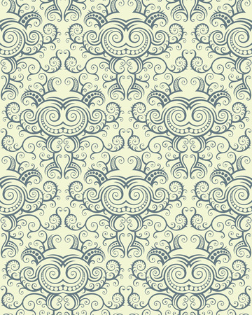 Seamless background from a floral ornament, Fashionable modern wallpaper or textile Stock Vector - 5581733