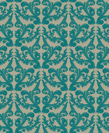 Seamless background from a floral ornament, Fashionable modern wallpaper or textile Stock Vector - 5581736
