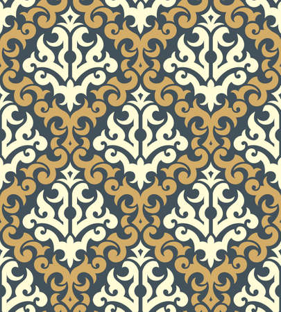 Seamless background from a floral ornament, Fashionable modern wallpaper or textile Stock Vector - 5670515