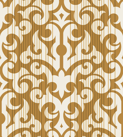 Seamless background from a floral ornament, Fashionable modern wallpaper or textile Stock Vector - 5670518